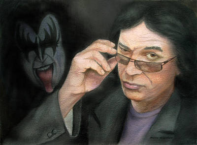 Portraits Pastel - Gene Simmons by Mamie Greenfield