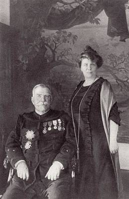 General Joffre And His Wife Madame Print by Vintage Design Pics