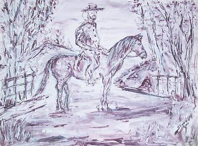 Original Painting - General Lee  by Mary Sedici