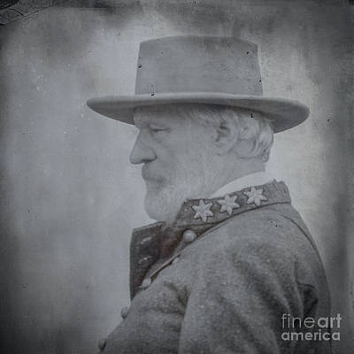 General Robert E Lee Portrait  Print by Randy Steele