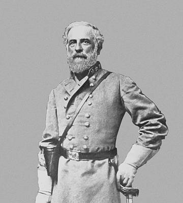 Lee Painting - General Robert E Lee by War Is Hell Store