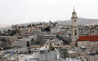 General View Of Bethlehem 2009 Print by Munir Alawi