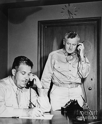 Generals Groves And Farrell, 1945 Print by Science Source