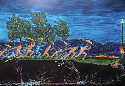 Painting - Generations by Lazaro Hurtado