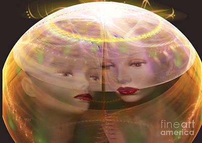 Symmetry Digital Art - Generic Relationship by Melissa Messick
