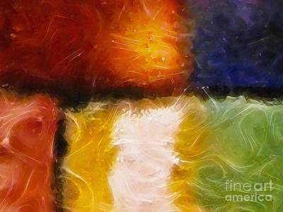 Abstract Digital Painting - Genesis Iv by Lutz Baar