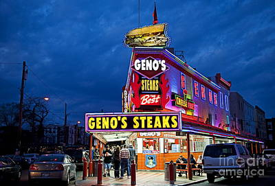 Phila Photograph - Geno's Steaks South Philly by John Greim