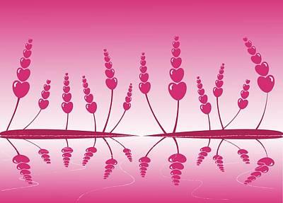 Gentle Hearts Print by Anastasiya Malakhova