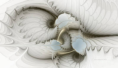 Abstraction Digital Art - Gentle Hints by Karin Kuhlmann