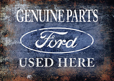 Genuine Ford Parts Print by Mark Rogan