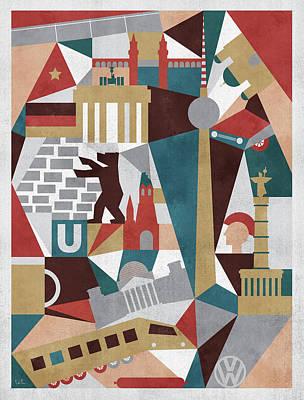 Berlin Mixed Media - Geometric Berlin by Francisco Valle