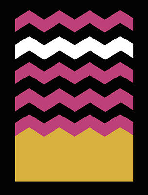 Berlin Drawing - Geometric Chevron Colors 1 by Francisco Valle