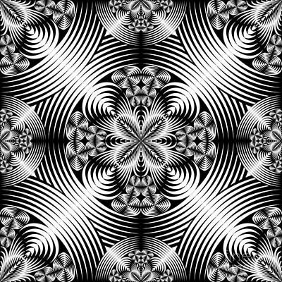 Algorithmic Digital Art - Geometric Damask by Gaspar Avila