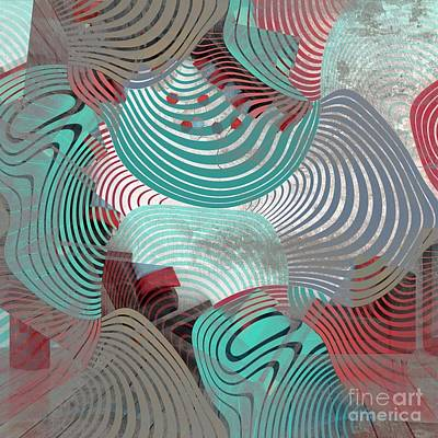 Abstract Shapes Digital Art - Geometric Gymnastic - 1010t by Variance Collections