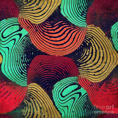 Abstract Shapes Digital Art - Geometric Gymnastic - W55p20t by Variance Collections