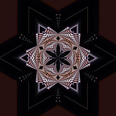 Computer Art Photograph - Geometric Kaleidoscope by Laura Mountainspring