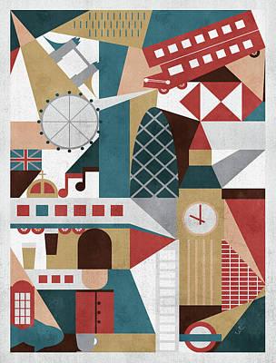 Berlin Mixed Media - Geometric London by Francisco Valle