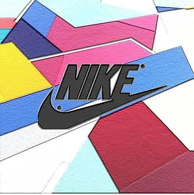 Sneakers Digital Art - Geometric Nike Cover by Dekai Youmans