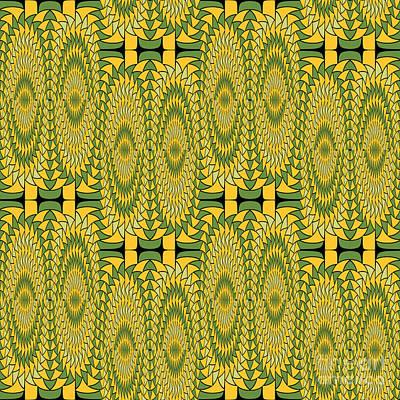 Geometric Sunflowers Print by Gaspar Avila