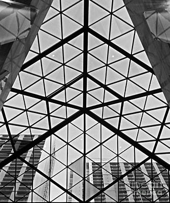 Geometric Views Print by Maria Arango