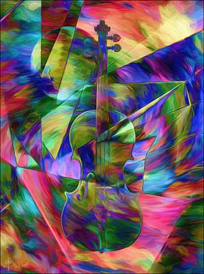 Geometries And Colors  For A Violin  Original by Daniel  Arrhakis