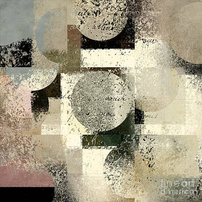 Beige Abstract Art Digital Art - Geomix - C133et02b by Variance Collections