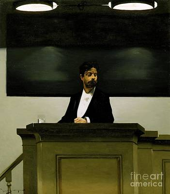 Harald Painting - Georg Brandes At The University Of Copenhagen by Harald Slott