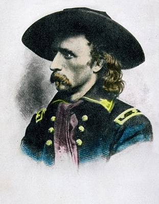 George Armstrong Custer 1839 To 1876 Print by Vintage Design Pics