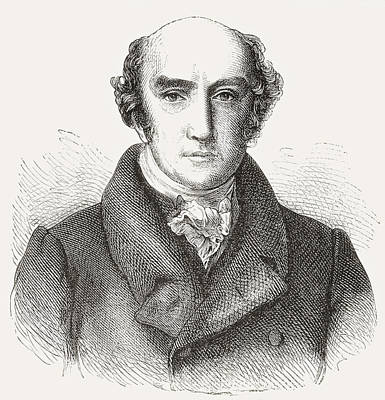 Prime Drawing - George Canning, 1770 by Vintage Design Pics