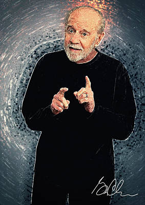 George Carlin Print by Taylan Soyturk