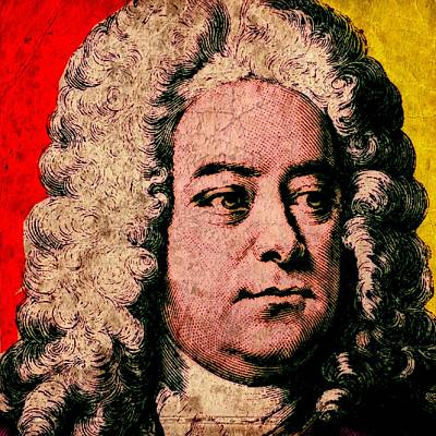 Frederick Mixed Media - George Friedrich Handel Colour by Otis Porritt