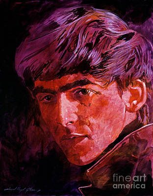 Music Legends Painting - George Harrison by David Lloyd Glover