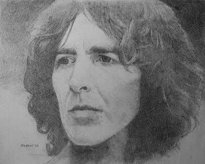 George Harrison Print by Glenn Daniels