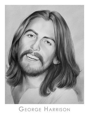 Beatles Drawing - George Harrison by Greg Joens