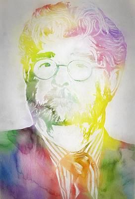 George Lucas Print by Dan Sproul