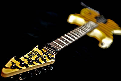 Esp Guitars Photograph - George Lynch - E S P Tiger Guitar by Lisa Johnson