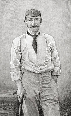 Cricket Drawing - George Robert Canning Harris, 4th Baron by Vintage Design Pics