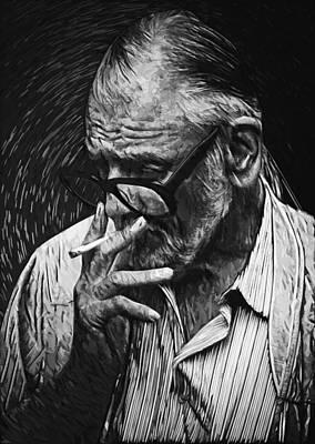 Portrait Digital Art - George Romero by Taylan Soyturk