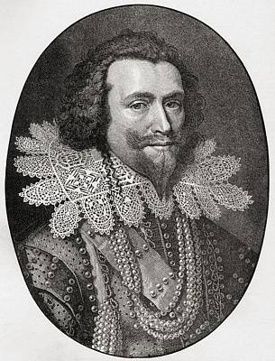 Seventeenth Century Drawing - George Villiers, 1st Duke Of by Vintage Design Pics