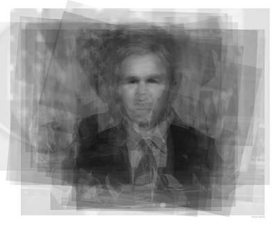 George Bush Digital Art - George W. Bush by Steve Socha
