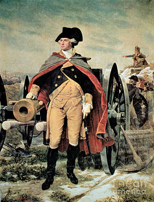 First Painting - George Washington At Dorchester Heights by Emanuel Gottlieb Leutze