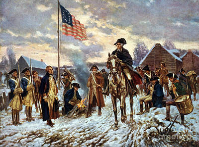 George Washington At Valley Forge Print by Science Source