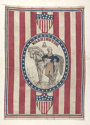 George Washington Drawing - George Washington Banner by Michael Trekur