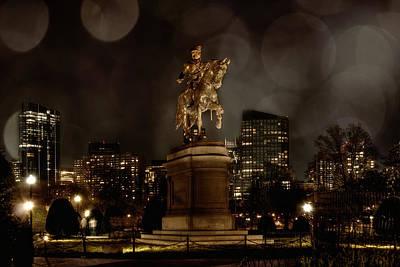 George Washington Photograph - George Washington In The Public Garden - Boston Cityscape by Joann Vitali