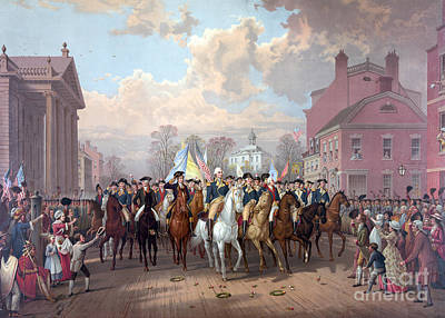 George Washingtons Return To Nyc, 1783 Print by Science Source