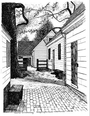 Restoration Drawing - George Wythe House Historica District City Of Williamsburg Virginia by Dawn Boyer