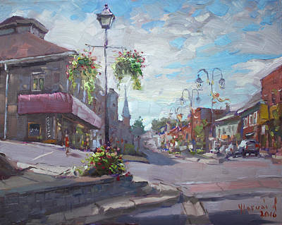Town Painting - Georgetown Downtown by Ylli Haruni