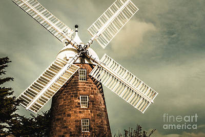 Kinetic Photograph - Georgian Stone Windmill  by Jorgo Photography - Wall Art Gallery