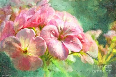 Geranium - Digital Paint Print by Debbie Portwood