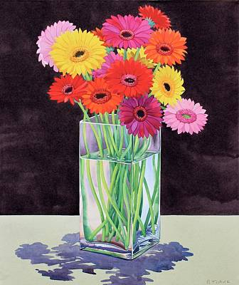 Gerbera Painting - Gerberas by Christopher Ryland